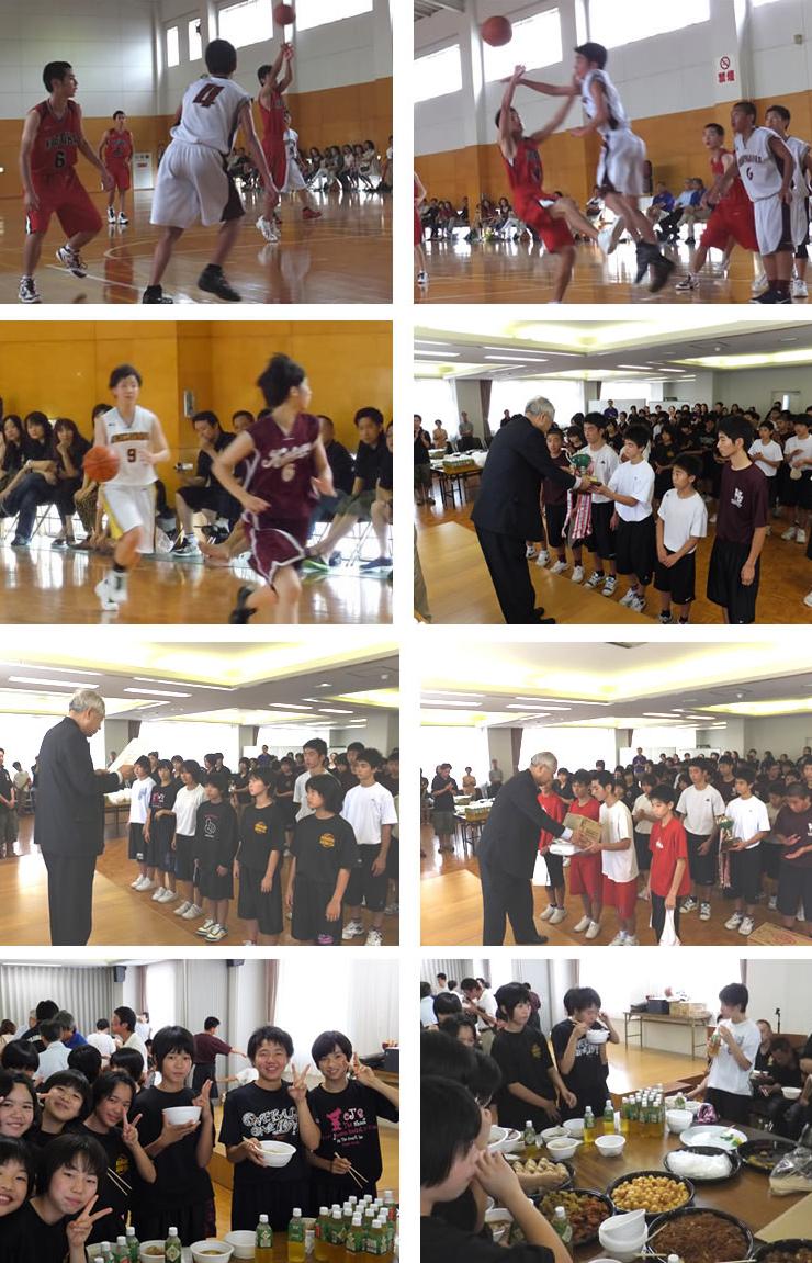 福岡の中学校バスケチームが参加する「福太郎カップ」